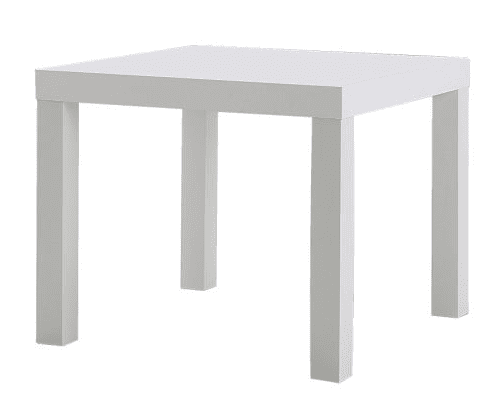IKEA LACK table. 31 days of cult classics | Modern Mrs Darcy.