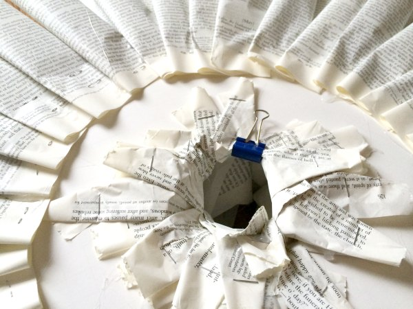 How to make a book page wreath, and more book art for the holidays | Modern Mrs Darcy