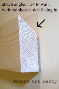 how to hang DIY dry erase board on wall home school office